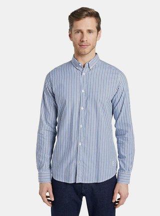 Světle modrá pánská pruhovaná košile Tom Tailor