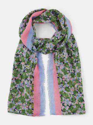 Zelený dámský květovaný šátek Tom Tailor