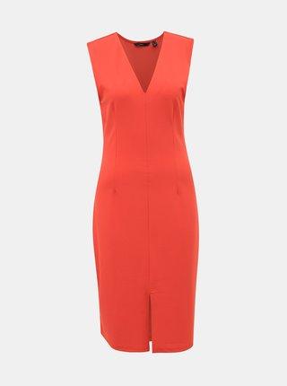 Červené púzdrové šaty VERO MODA Dolly