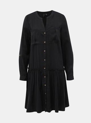 Čierne košeľové šaty VERO MODA Michalla