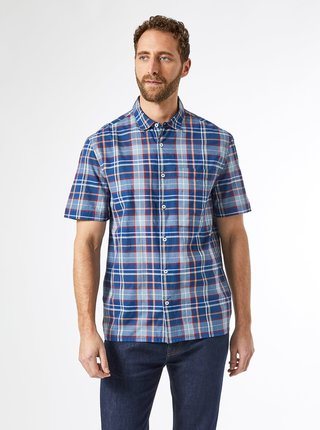 Modrá kostkovaná košile Burton Menswear London