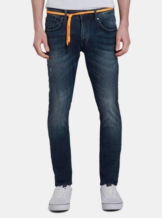 Modré pánské skinny fit džíny Tom Tailor Denim Culver