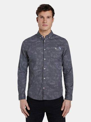 Čierna pánska vzorovaná košeľa Tom Tailor