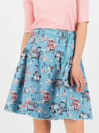 Modrá vzorovaná sukně Blutsgeschwister