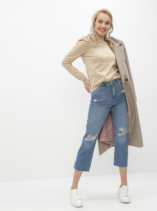 Modré straight fit džíny Miss Selfridge
