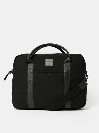 Černá taška na notebook Jack & Jones Canvas