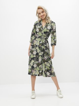 Zelené vzorované šaty Selected Femme Marina