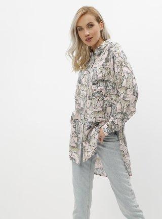 Růžová vzorovaná košile Noisy May Jane