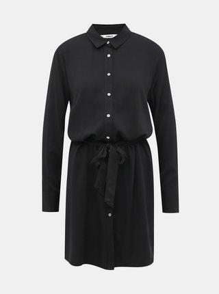 Čierne košeľové šaty ONLY Alma