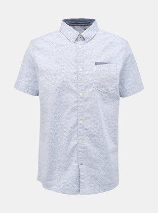 Světle modrá pánská vzorovaná košile Tom Tailor