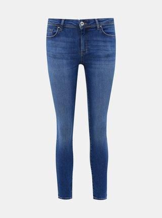 Modré zkrácené skinny fit džíny ONLY Carmen