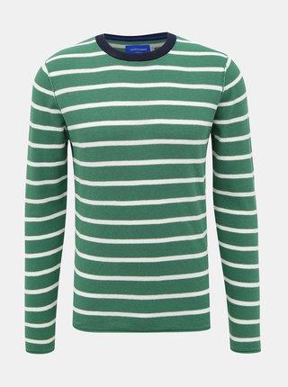 Zelený pruhovaný sveter Jack & Jones Nelson