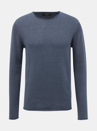 Šedý lněný basic svetr Jack & Jones Premium Blalinen