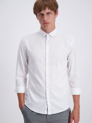 Biela slim fit košeľa Lindbergh