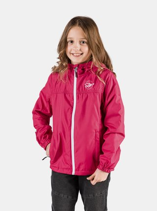 Ružová dievčenská nepromokavá bunda SAM 73