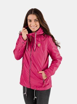 Tmavoružová dámska nepromokavá ľahká bunda SAM 73