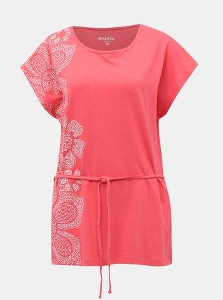 Ružové dámske tričko so zaväzováním SAM 73