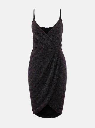 Čierne trblietavé šaty Haily´s Disco