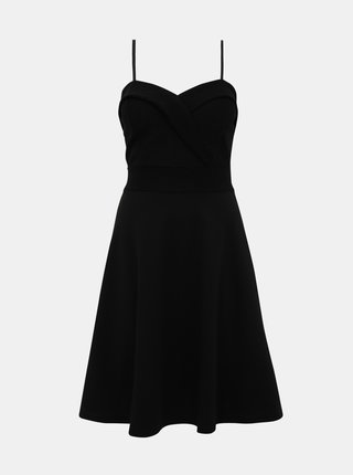 Černé šaty s třpytivým topem Haily´s