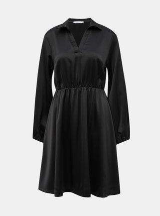 Černé saténové šaty Haily´s Silvy