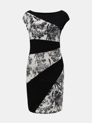 Bielo-čierne vzorované šaty Desigual Detroit