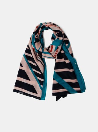 Růžovo-modrý vzorovaný šátek Pieces Nubi