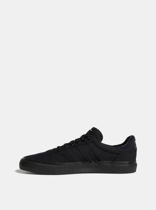 Čierne pánske tenisky s koženými detailmi adidas Originals