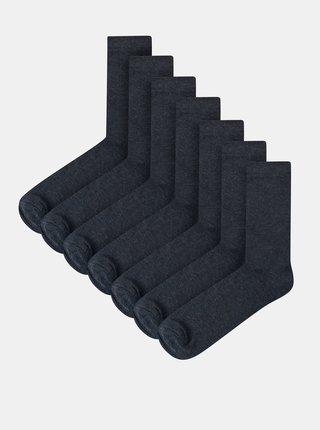 Sada sedmi párů pánských ponožek v modré barvě Lindbergh