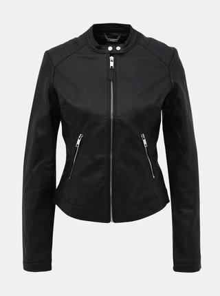 Černá dámská koženková bunda Alcott
