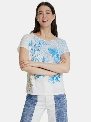 Tricouri pentru femei Desigual - alb, albastru