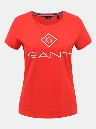 Červené dámské tričko s potiskem GANT