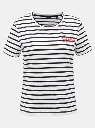 Bílé dámské pruhované tričko GANT