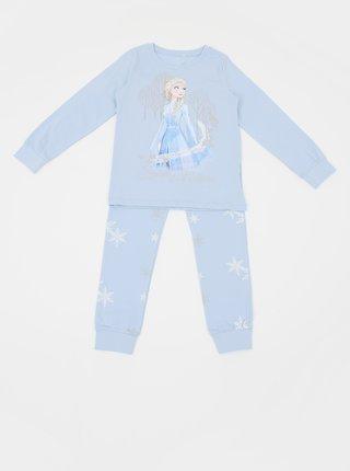 Svetlomodré dievčenské dvojdielne pyžamo s potlačou name it Frozen Cait