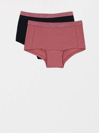 Sada dvou kalhotek v růžové a tmavě modré barvě name it Hipster