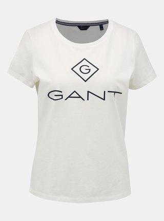 Bílé dámské tričko s potiskem GANT