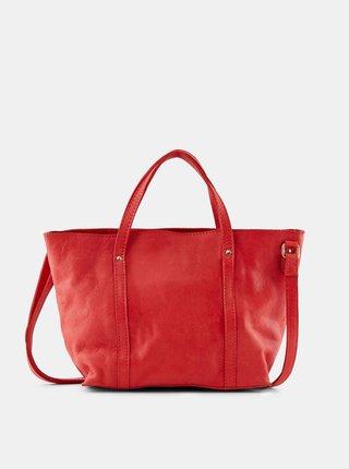 Červená malá kožená kabelka Pieces Aida