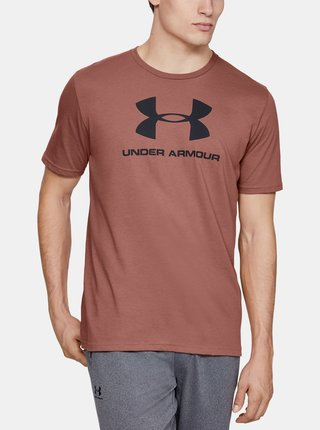 Hnědé pánské tričko Sportstyle Under Armour