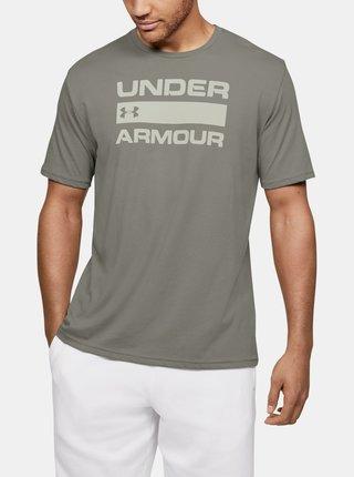 Zelené pánské tričko Team Issue Wordmark Under Armour