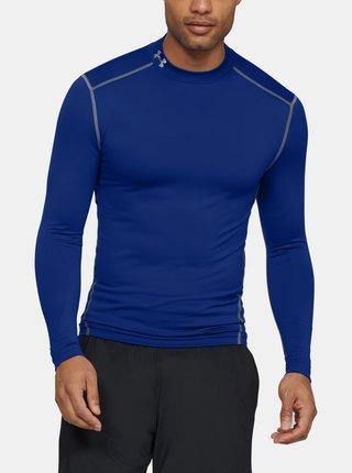 Modré pánské tričko Mock Under Armour