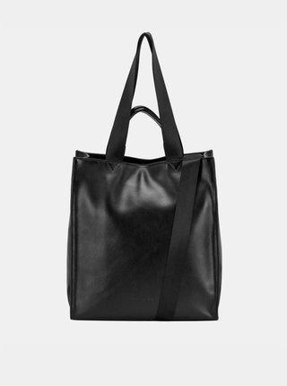 Čierna kožená kabelka Smith & Canova Tote