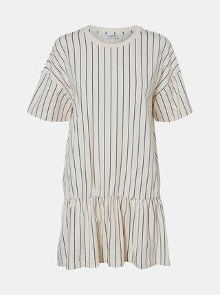 Krémové pruhované šaty Noisy May Colla