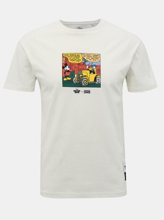 Biele tričko s potlačou Jack & Jones Donald Duck