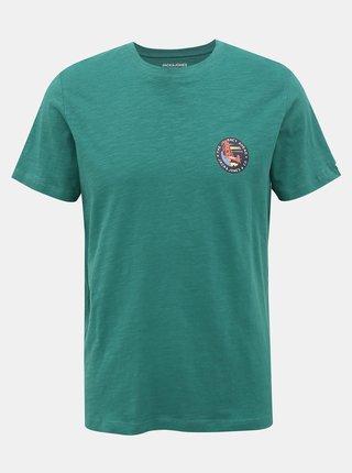 Zelené tričko s potiskem Jack & Jones Souvenir