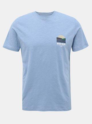 Světle modré tričko s potiskem Jack & Jones Souvenir