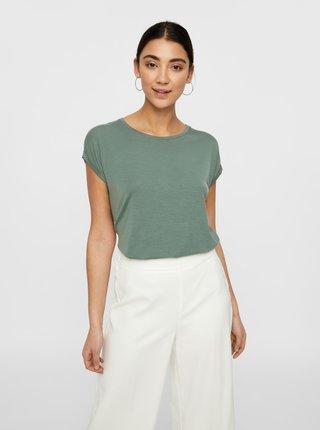 Zelené basic tričko AWARE by VERO MODA Ava