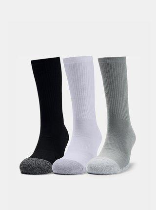 Sada tří párů šedých ponožek Heatgear Under Armour