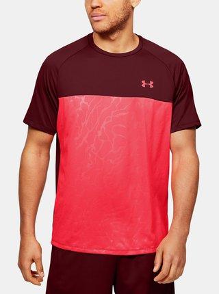 Červené pánské tričko Tech Under Armour