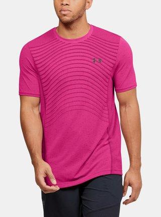 Růžové pánské tričko Seamless Wave Under Armour