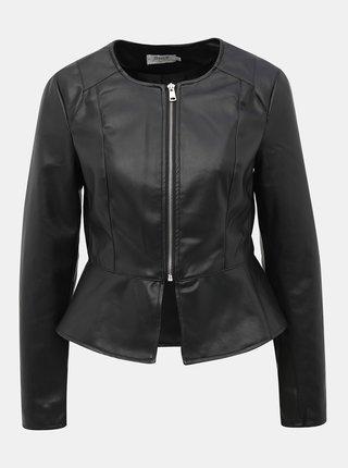 Černá koženková bunda ONLY Josie