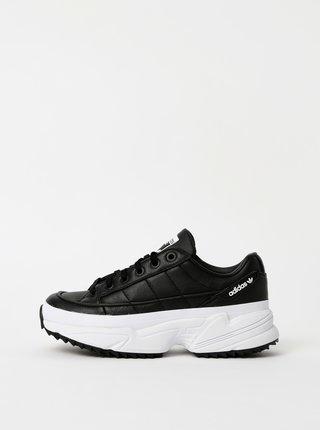 Černé dámské kožené tenisky na platformě adidas Originals